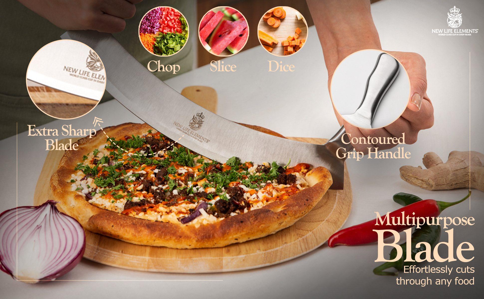 electric conveyor pizza oven outdoor kitchen with pizza oven wood oven pizza oven pizza 1oven pizza convection pizza oven Multi use kitchen knife sharp blade mezzaluna knife quality stainless steel